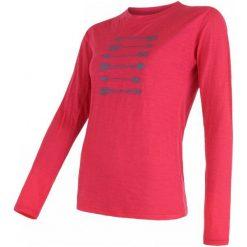 Bluzki sportowe damskie: Sensor Koszulka Merino Wool Arrows Magenta L