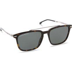 Okulary przeciwsłoneczne BOSS - 0930/S Dark Havana 086. Brązowe okulary przeciwsłoneczne męskie aviatory Boss, z tworzywa sztucznego. W wyprzedaży za 529,00 zł.