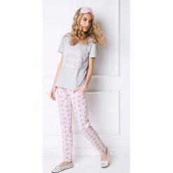 Piżama damska Diamonds długa. Szare piżamy damskie Astratex, z nadrukiem, z bawełny, z długim rękawem. Za 74,39 zł.