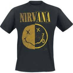 Nirvana Spliced Smiley T-Shirt czarny. Czarne t-shirty męskie marki Caliban, s. Za 74,90 zł.