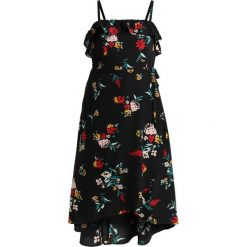 City Chic FLOWERETTE Długa sukienka black. Czarne długie sukienki marki City Chic, z materiału, z długim rękawem. Za 509,00 zł.