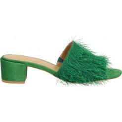 Chodaki damskie: Zielone klapki damskie