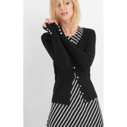 Sweter na guziki. Czarne kardigany damskie marki Orsay, xs, z bawełny, z dekoltem na plecach. Za 49,99 zł.