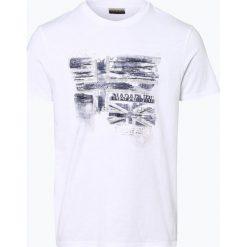 T-shirty męskie z nadrukiem: Napapijri - T-shirt męski – Sancy, czarny