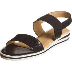 """Rzymianki damskie: Skórzane sandały """"Rebecca"""" w kolorze czarnym"""