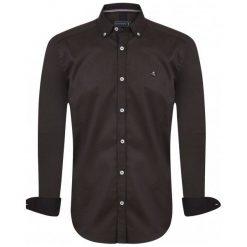Sir Raymond Tailor Koszula Męska Break M Brązowy. Brązowe koszule męskie marki FORCLAZ, m, z materiału, z długim rękawem. Za 139,00 zł.