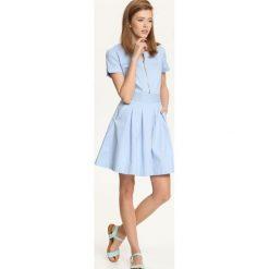 SUKIENKA DAMSKA. Szare sukienki letnie marki Top Secret, s, z krótkim rękawem, mini, rozkloszowane. Za 69,99 zł.