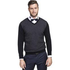 Sweter WALTER SWCR000220. Czarne swetry klasyczne męskie Giacomo Conti, na jesień, m, z poliamidu. Za 199,00 zł.