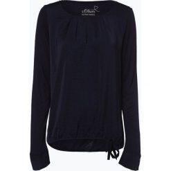 S.Oliver Casual - Damska koszulka z długim rękawem, niebieski. Niebieskie t-shirty damskie s.Oliver Casual, s, z satyny. Za 119,95 zł.