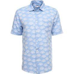 Koszule męskie na spinki: Soulland ERSA SHORT SLEEVES AND FRENCH PLACKET Koszula blue/white