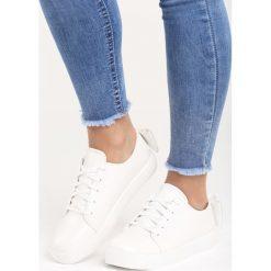 Buty sportowe damskie: Białe Buty Sportowe Sparkling Bowknot