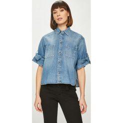 Pepe Jeans - Koszula Ally. Szare koszule damskie Pepe Jeans, m, z bawełny, casualowe, z krótkim rękawem. Za 359,90 zł.