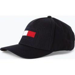 Tommy Hilfiger - Męska czapka z daszkiem, niebieski. Niebieskie czapki z daszkiem męskie TOMMY HILFIGER, z aplikacjami. Za 179,95 zł.