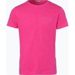 Calvin Klein Jeans - T-shirt męski, różowy. Czerwone t-shirty męskie Calvin Klein Jeans, l, z napisami, z jeansu. Za 99,95 zł.