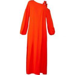 Elizabeth and James SHONTAE Długa sukienka tangerine. Czerwone długie sukienki marki Elizabeth and James, z acetatu, wizytowe, z długim rękawem. W wyprzedaży za 770,70 zł.