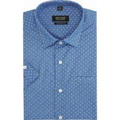 Koszule męskie: koszula bexley 2834 krótki rękaw custom fit granatowy