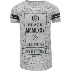 T-shirty męskie z nadrukiem: T-shirt męski z nadrukiem szary (rx1764)