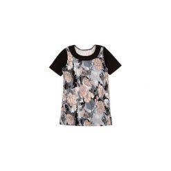 Bluzki asymetryczne: bluzka damska klasyczna we wzory