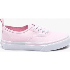 Vans - Tenisówki dziecięce Authentic Elastic. Szare buty sportowe dziewczęce marki Vans, z gumy, na sznurówki. W wyprzedaży za 179,90 zł.