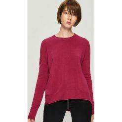 Gładki sweter basic - Fioletowy. Fioletowe swetry klasyczne damskie Sinsay, l. Za 39,99 zł.