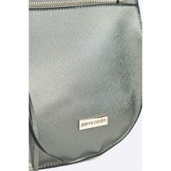 Pierre Cardin - Torebka. Szare torebki klasyczne damskie marki Pierre Cardin, w paski, z materiału, średnie. W wyprzedaży za 319,90 zł.