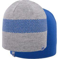 Czapka męska CAM006z - niebieski ciemny. Niebieskie czapki męskie 4f, na jesień, z materiału. Za 39,99 zł.