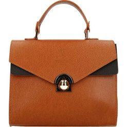 """Torebki klasyczne damskie: Skórzana torebka """"Eiffel"""" w kolorze karmelowym – 24 x 21 x 11 cm"""