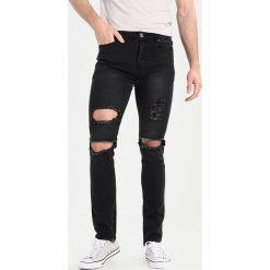 Liquor N Poker WITH OPEN RIPS AND ZIP ANKLE Jeans Skinny Fit washed black. Czarne rurki męskie Liquor N Poker. W wyprzedaży za 135,20 zł.
