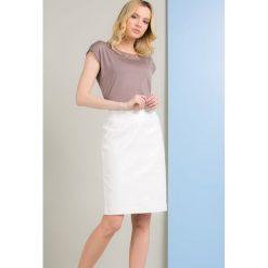 Spódniczki: Lniana spódnica z subtelnym połyskiem