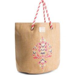 Torebka ROXY - ERJBT03084 Natural YEF0. Brązowe torby plażowe Roxy, z tworzywa sztucznego. W wyprzedaży za 129,00 zł.