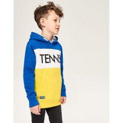 Bluza z kapturem - Niebieski. Czarne bluzy chłopięce rozpinane marki Reserved, l, z kapturem. Za 139,99 zł.
