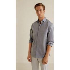 Mango Man - Koszula Rosario. Szare koszule męskie na spinki marki S.Oliver, l, z bawełny, z włoskim kołnierzykiem, z długim rękawem. Za 199,90 zł.