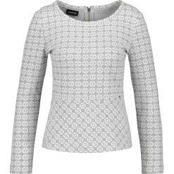 Bluzki asymetryczne: Żakardowa bluzka z baskinką