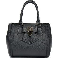 Torebki klasyczne damskie: Skórzana torebka w kolorze czarnym – (S)22 x (W)28 x (G)14 cm
