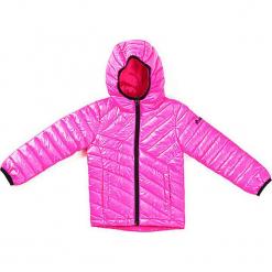 Kurtka przejściowa w kolorze różowym. Czerwone kurtki dziewczęce przejściowe marki Reserved, z kapturem. W wyprzedaży za 125,95 zł.