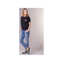 T-shirty z krótkim rękawem Only  MTV. Czarne t-shirty damskie marki ONLY, l, z materiału, z kapturem. Za 63,20 zł.