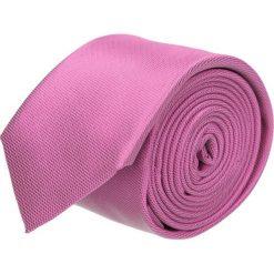 Krawat platinum róż classic 203. Czerwone krawaty męskie Recman, z aplikacjami, z tkaniny, eleganckie. Za 49,00 zł.