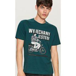 T-shirty męskie: T-shirt z wakacyjnym nadrukiem – Turkusowy