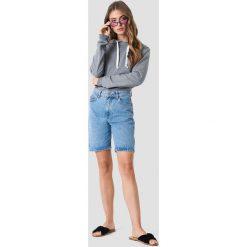 Rut&Circle Bluza z kapturem Cosy - Grey. Szare bluzy z kapturem damskie Rut&Circle, z krótkim rękawem, krótkie. Za 121,95 zł.