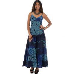 Odzież damska: Sukienka w kolorze granatowo-turkusowym