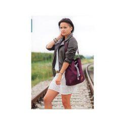 Torebki klasyczne damskie: Mała torba worek Mili Chic MC8 – burgund