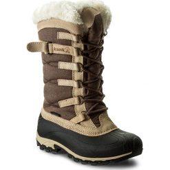 Buty zimowe damskie: Śniegowce KAMIK – Snowvalley NK2079  Brown