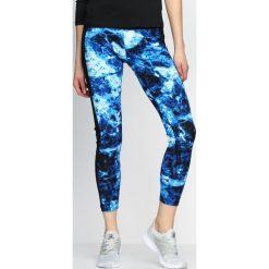 Spodnie damskie: Niebieskie Legginsy Spiral Galaxy