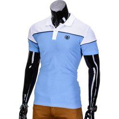 KOSZULKA MĘSKA POLO BEZ NADRUKU S832 - BŁĘKITNA. Niebieskie koszulki polo Ombre Clothing, m, z nadrukiem. Za 29,00 zł.