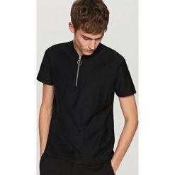 Koszulki polo: Koszulka polo z zamkiem – Czarny