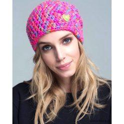 Czapka dziana KRAFF PINK GREEN handmade. Różowe czapki zimowe damskie Pakamera, z dzianiny. Za 99,00 zł.