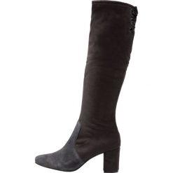 Pier One Kozaki sznurowane dark grey. Szare buty zimowe damskie marki Pier One, z materiału. Za 379,00 zł.