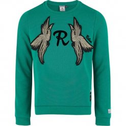 Bluza w kolorze turkusowym. Niebieskie bluzy dziewczęce marki Retour Denim de Luxe, z aplikacjami. W wyprzedaży za 125,95 zł.