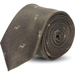 Krawaty męskie: krawat platinum brąz classic 213