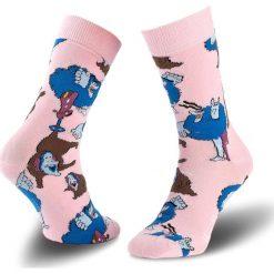 Skarpety Wysokie Damskie HAPPY SOCKS - BEA01-3001 Kolorowy Różowy. Czarne skarpetki damskie marki Happy Socks, z bawełny. Za 39,90 zł.